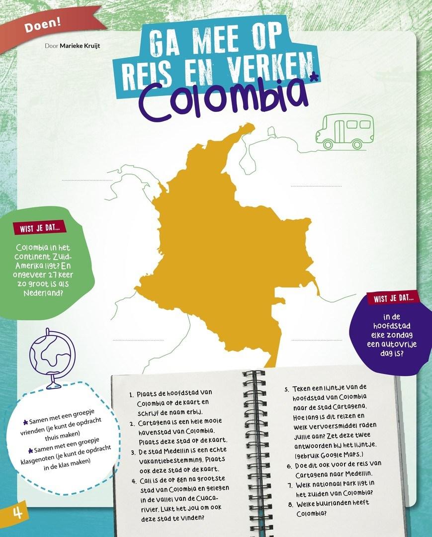 B4 Vul Het Kaartje Van Colombia In Woord En Daad