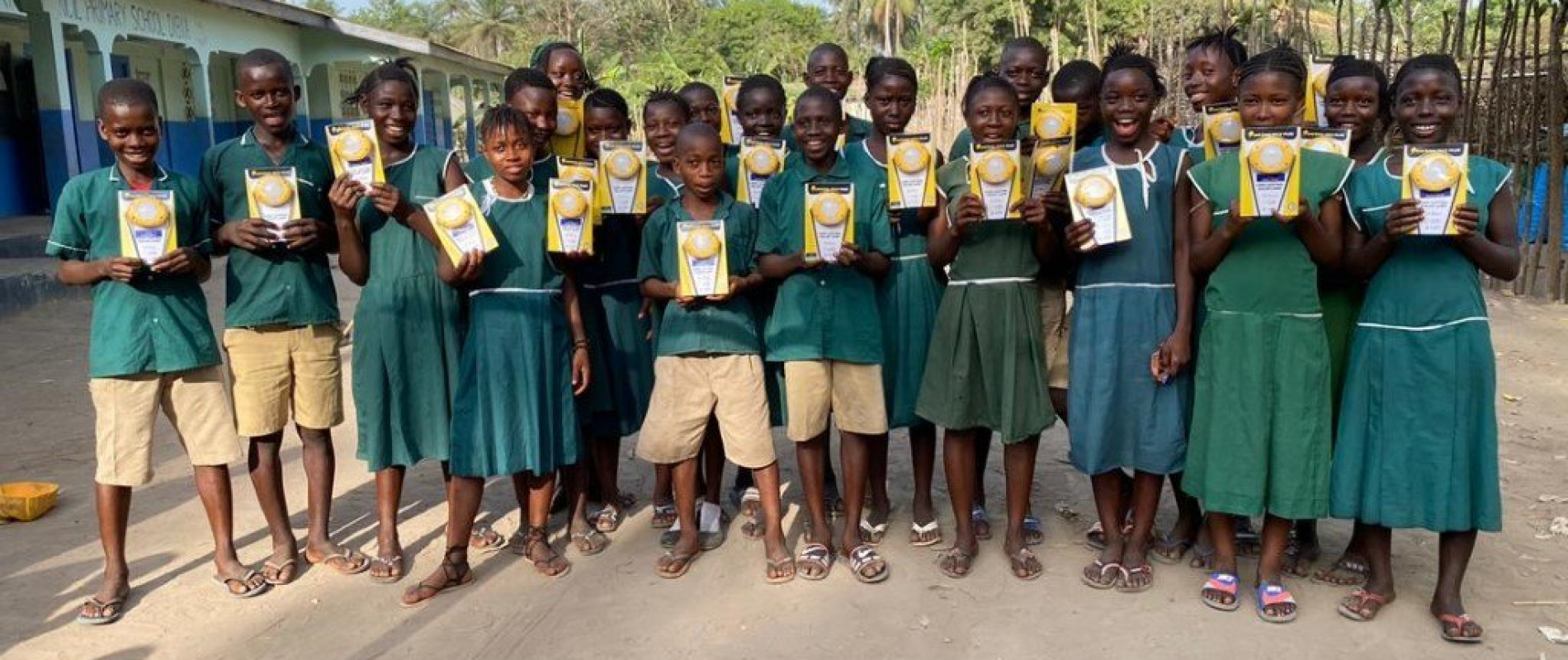 Distribution of solar lamps at kdc dibia primary school