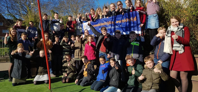 Studenten van Driestar Educatief voeren actie voor Woord en Daad