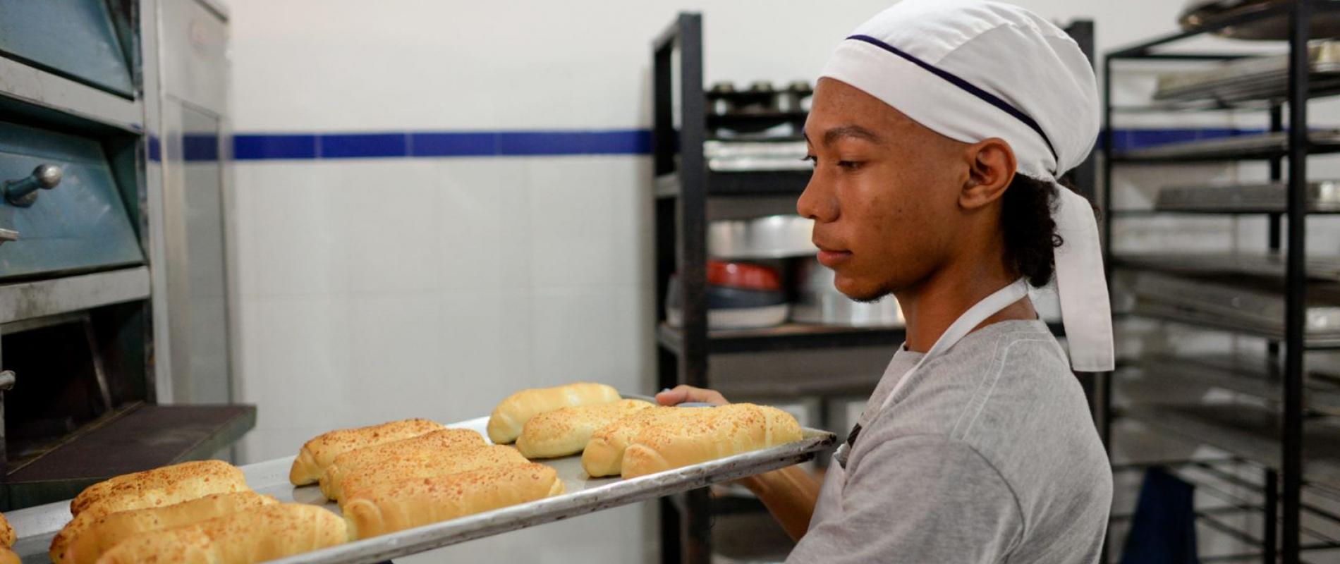 Estudiante de panadería