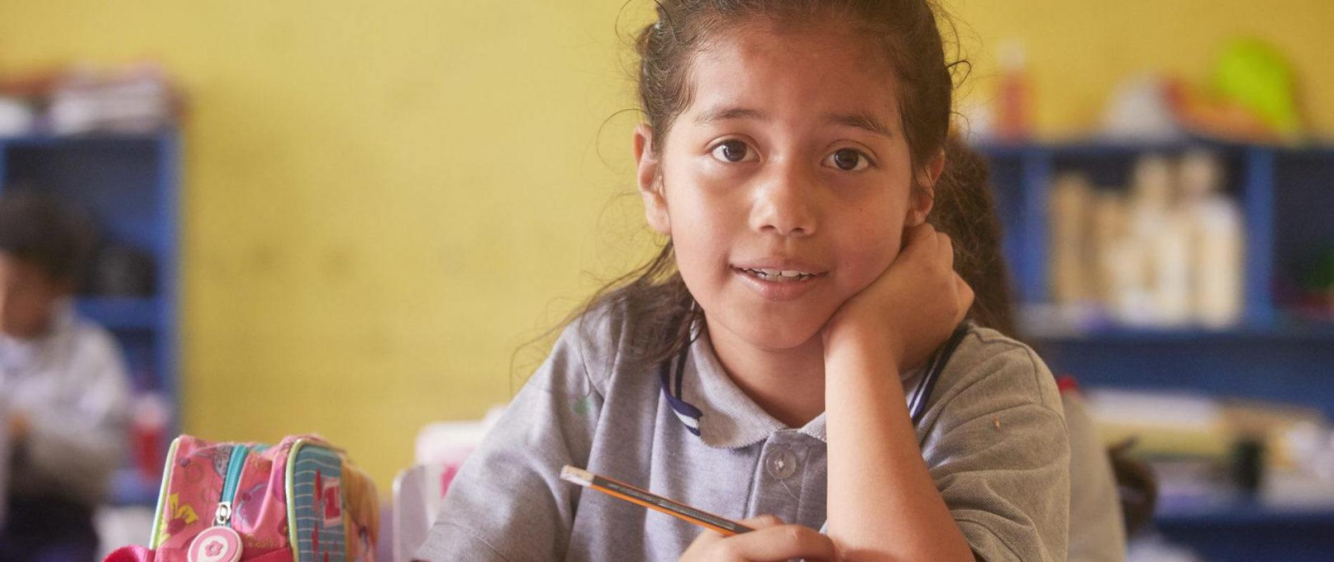 Guatemala Guatemala city Rayo de Luz Verbena AMG school voor basis en middelbaar onderwijs 20-3-2018 foto Jaco Klamer
