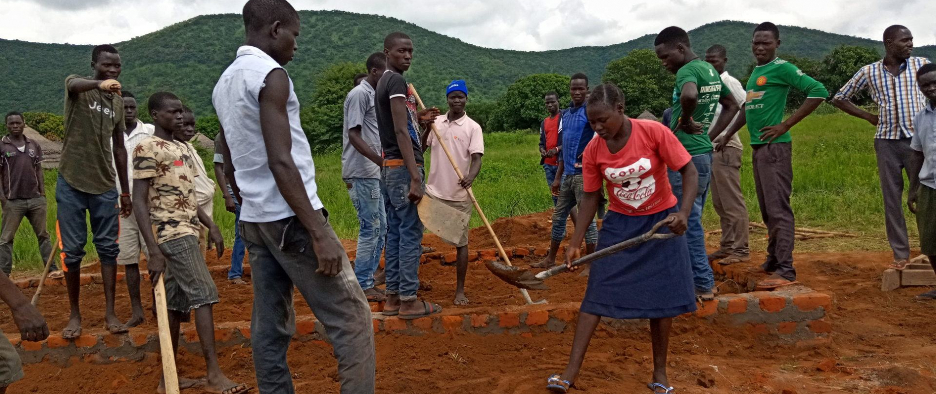 New students of 2019 constructing baby care centre at avti
