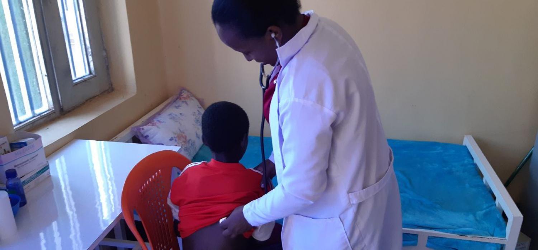 Photo adimasu during health screening