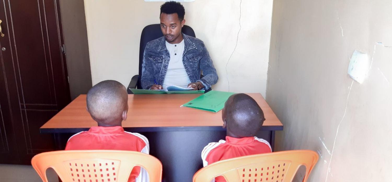 Photo buzayehu and adimasu during group counseling session