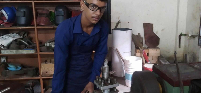 Testimony 01 tanzim ahamed imran doing practical in the workshop of hti