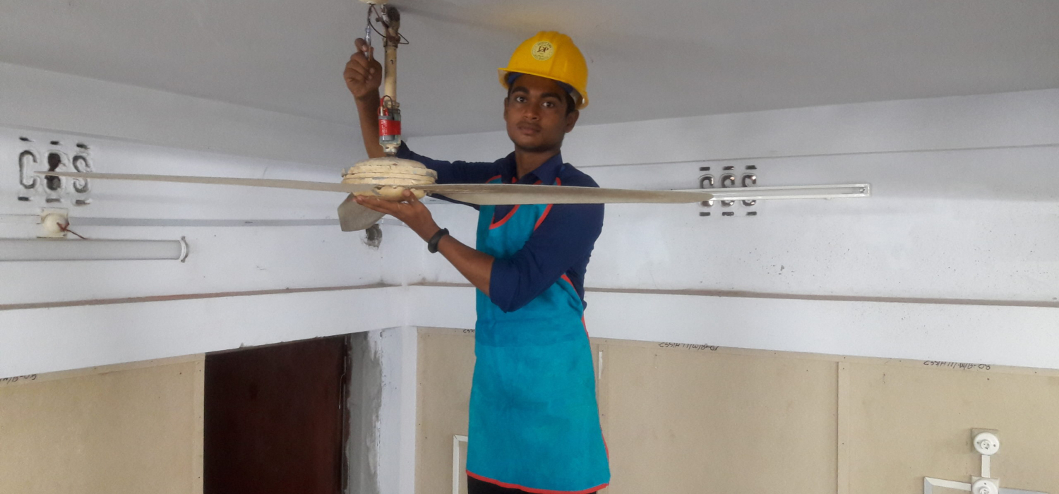 Testimony 1 riadul jannat doing practical in the workshop of hti