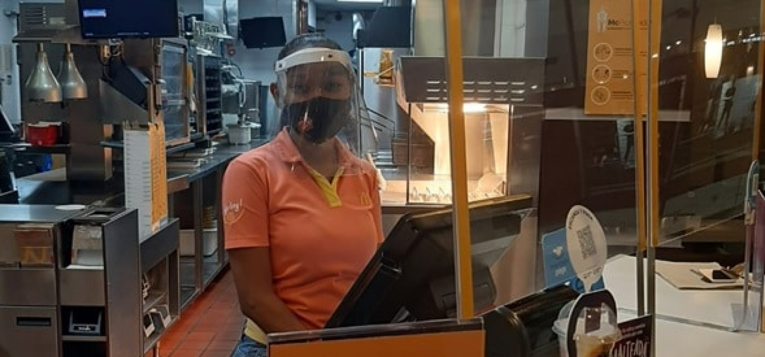 Yildred rodriguez at her job in the box