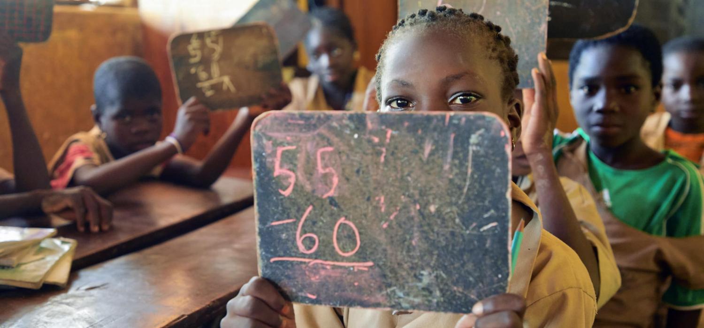 Benin  Sinende  jongeren in primair onderwijs 22-6-2018 foto Jaco Klamer